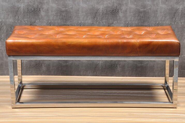 Trent Austin Design Adelinda Metal And Leather Bench Reviews Wayfair