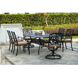 Batista Traditional 7 Piece Dining Set with Cushions