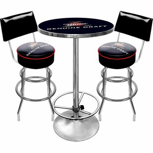 Ultimate Miller Genuine Draft 3 Piece Pub Table Set Trademark Global