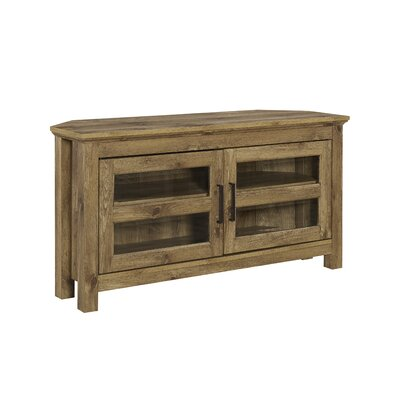 """Aurelio Corner TV Stand for TVs up to 48"""" Color: Barnwood by Andover Mills"""