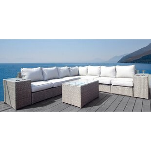 Rosecliff Heights Normandy 10 Piece Sectional Set with Cushions