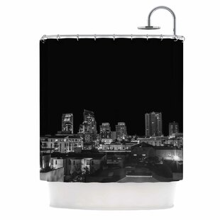 'Cityscape Nights' Photography Single Shower Curtain