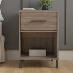 Best Reviews Politte 1 Drawer Nightstand by Union Rustic