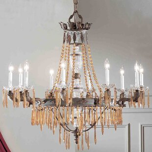 Duchess 10-Light Candle Style Chandelier by Classic Lighting
