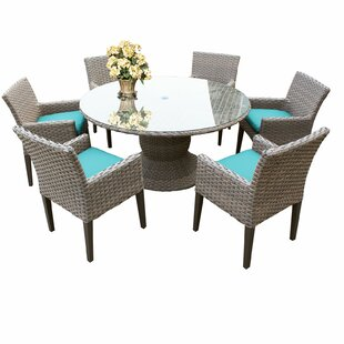 Rockport 7 Piece Dining Set with Cushions