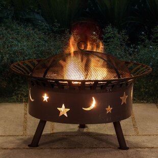 Sunjoy Cast Iron/Steel Wood Burning Fire Pit