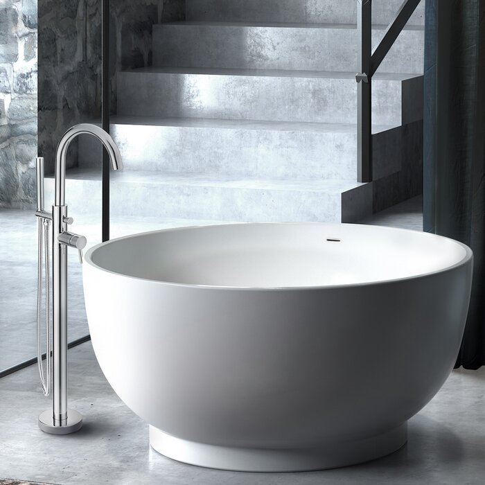 Omi 51 X 51 Freestanding Soaking Bathtub