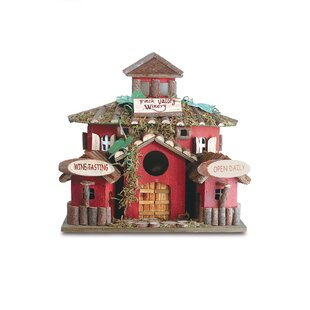 Zingz & Thingz Finch Valley Winery 10 in x 10.5 in x 8 in Birdhouse
