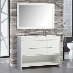 Chauncy 47 Double Bathroom Vanity Set with Mirror by Wade Logan