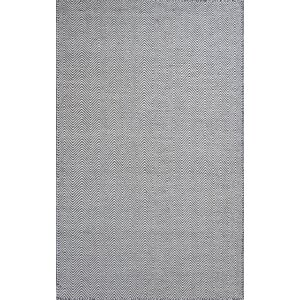 Zoya Ivory/Charcoal Wave Area Rug