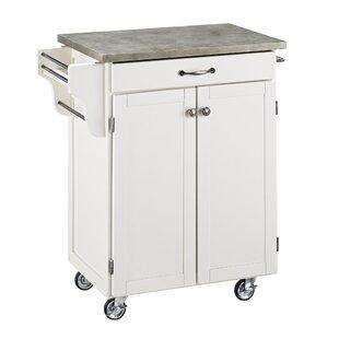 Cuisine Cart Kitchen Cart with Concrete Top