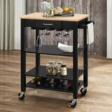 Furness Wheeled Kitchen Cart by Ebern Designs
