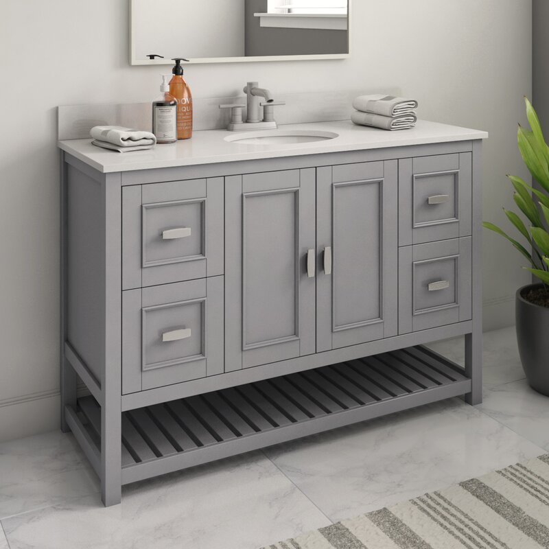 Ebern Designs Adaure 47 9 Single Bathroom Vanity Set Reviews Wayfair