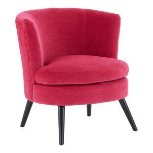Black Velvet Round Tub Chair By Symple Stuff