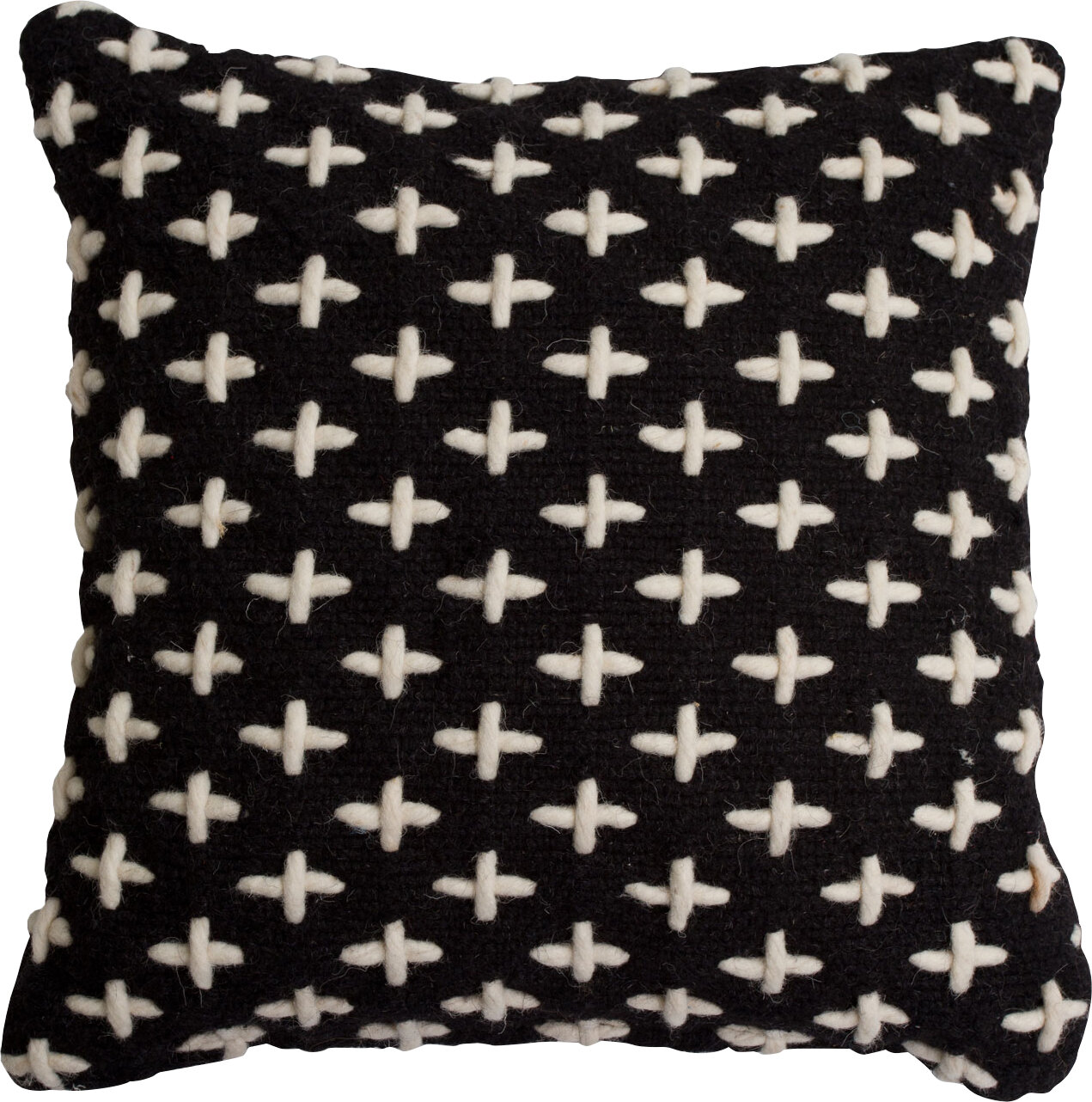 Blu Dot Mima Cross Stitch Wool Throw Pillow Wayfair