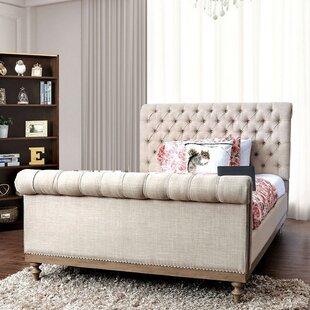 Jaidan Queen Tufted Upholstered Sleigh Bed