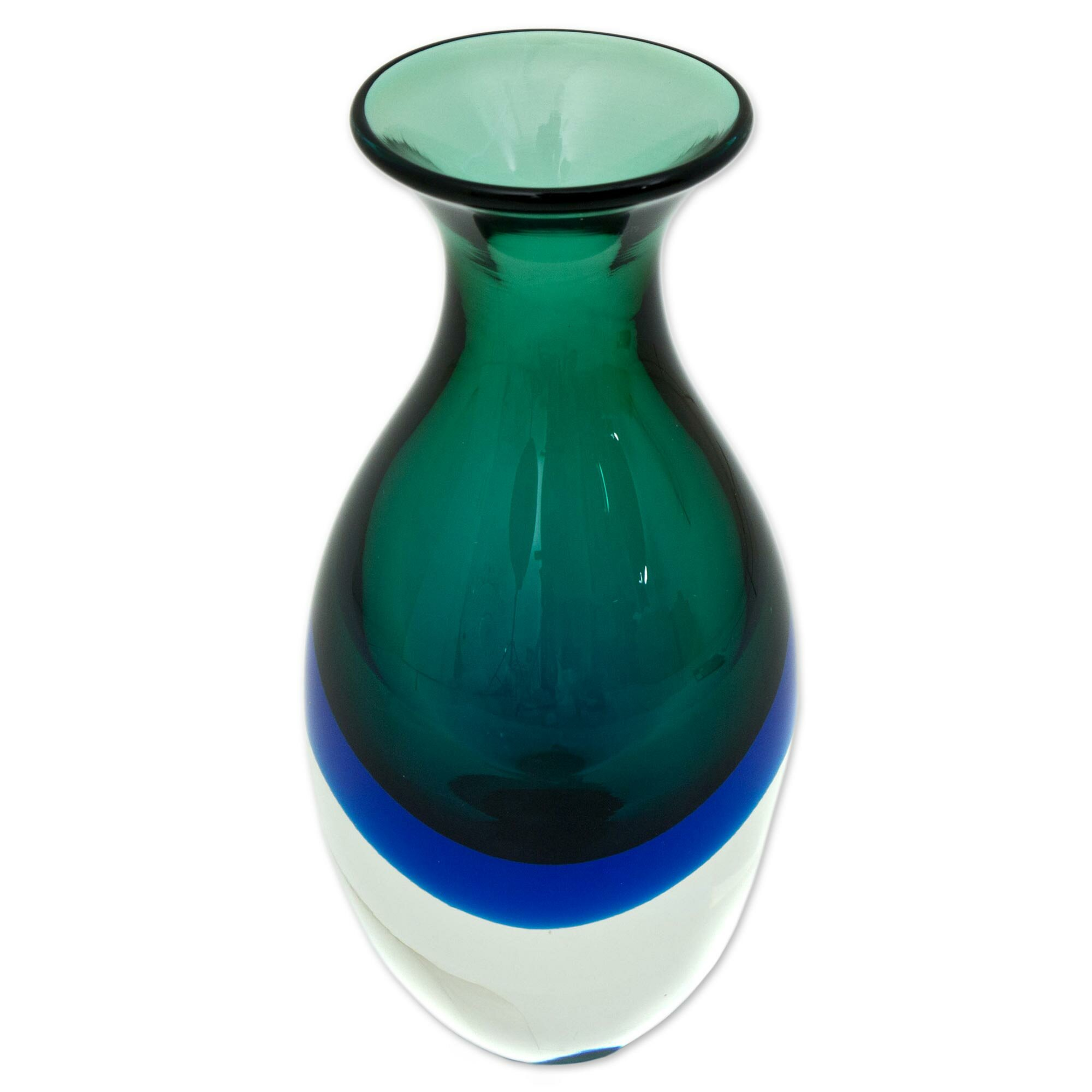 Bloomsbury Market Graciela Rain Drop Art Glass Table Vase Wayfair