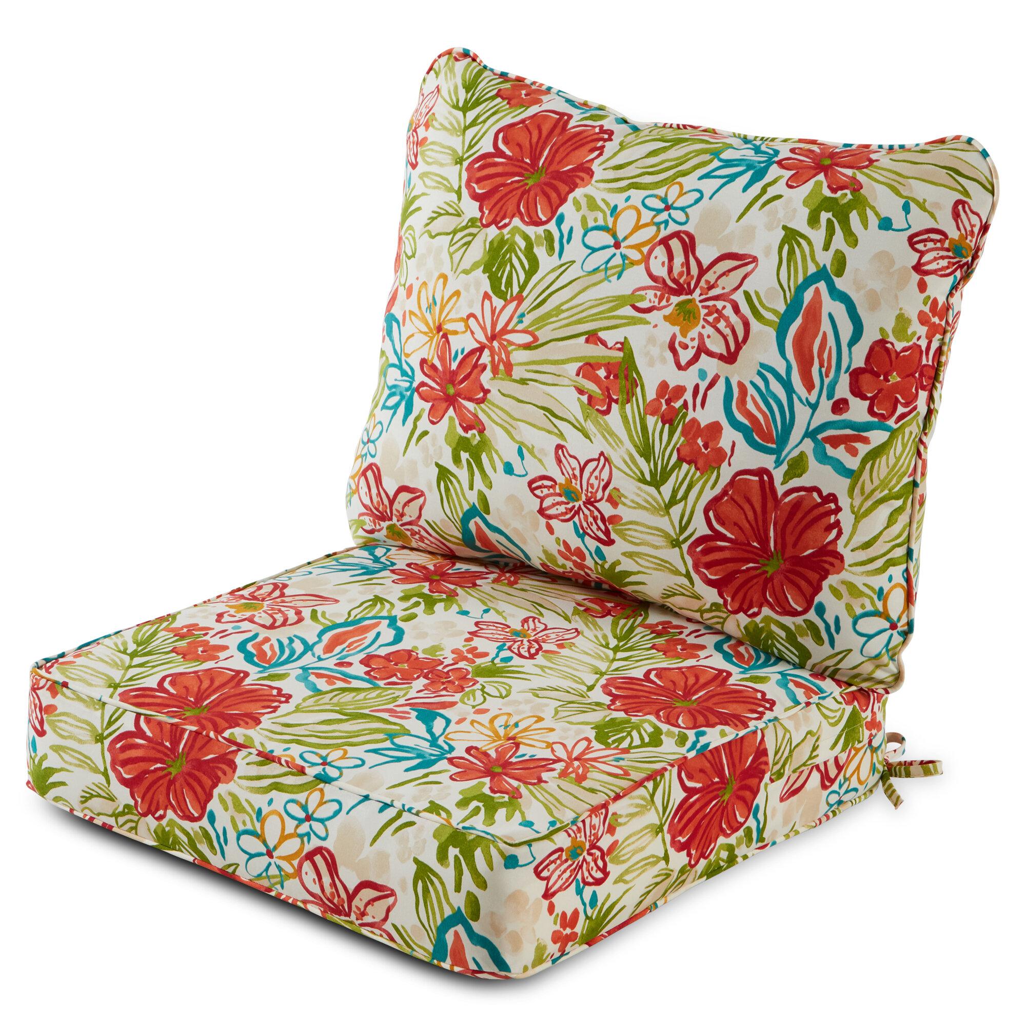 Ebern Designs 2 Piece Deep Seat Outdoor Replacement Cushion Set