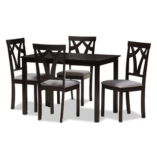 Commodore-Singh Modern and Contemporary 5 Piece Breakfast Nook Dining Set Red Barrel Studio