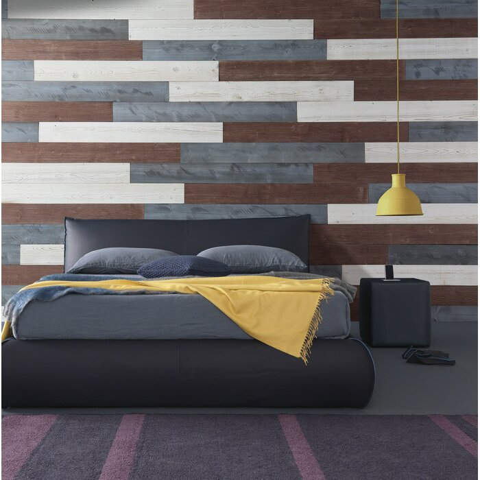 Peel And Stick Wood Wall Panels Diy 19 5 Sq Ft Per Box White Natural Grey Old Brown