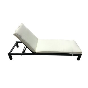 Colby Outdoor Rattan Deckchair Chaise Lounge with Cushion