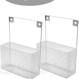 Wafford Mesh Wall Mount Pantry Caddy Wrap Rack Cabinet Door Organizer (Set of 2)