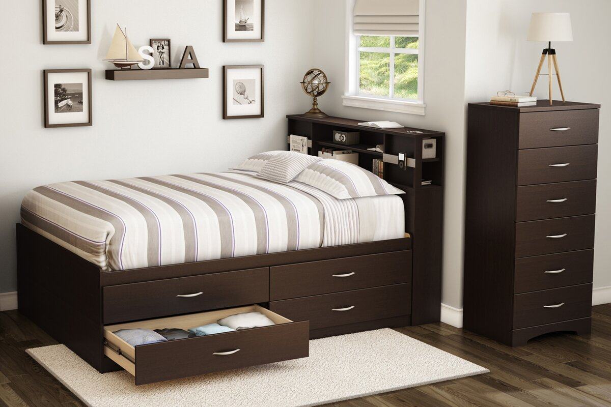 south shore full storage platform bed  reviews  wayfair - defaultname
