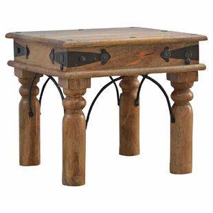 Solid Wood Side Table By World Menagerie