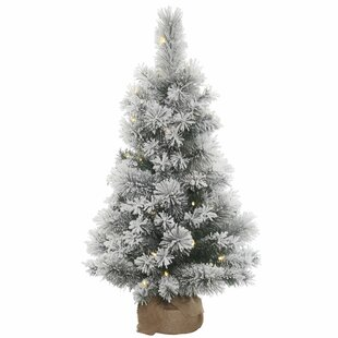 Kersey 3 White Pine Artificial Christmas Tree With 70 Led Clear Lights Stand