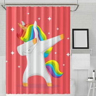 Cooks Unicorn Horse Rainbow Cute Single Shower Curtain