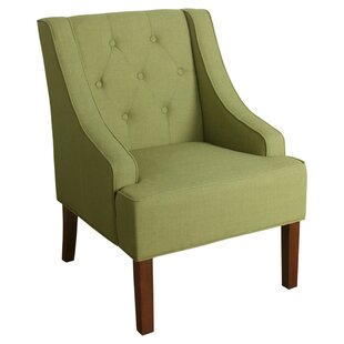 Palmerston Button Tufted Swoop Arm Wooden Side Chair