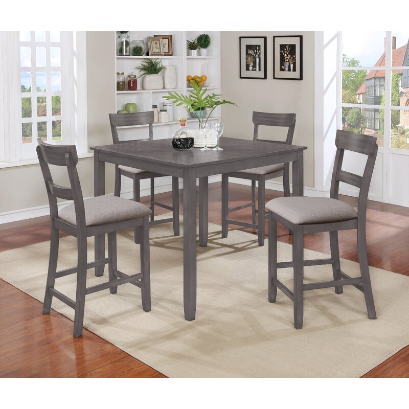 Charlton Home Wilmoth 5 Piece Counter Height Dining Set Reviews Wayfair