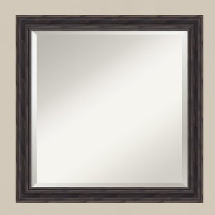 Darby Home Co Wallingford Handcrafted Rustic Square Accent Wall Mirror