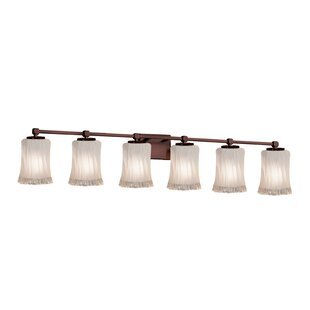Look for Meadowland 6-Light Glass Shade Vanity Light By Darby Home Co