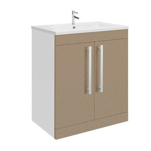 39.9cm Wall Mounted Vanity Unit With Tap And Storage Cabinet By Premier