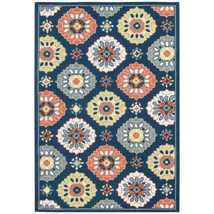 New Fairfield Multi-purpose Blue/Orange Indoor/Outdoor Area Rug