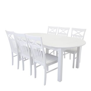 Low Price Farmington Extendable Dining Set With 6 Chairs