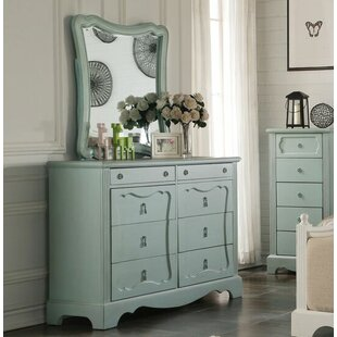 Ophelia & Co. Ketchum 8 Drawer Double Dresser with Mirror