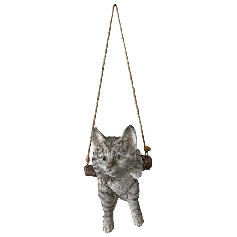 Design Toscano Hanging Tabby Kitty On A