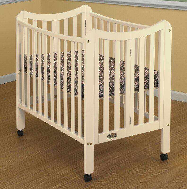Orbelle Tian Folding Portable Crib With Mattress Amp Reviews