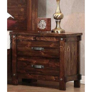Angelynn 2 Drawer Nightstand by Loon Peak
