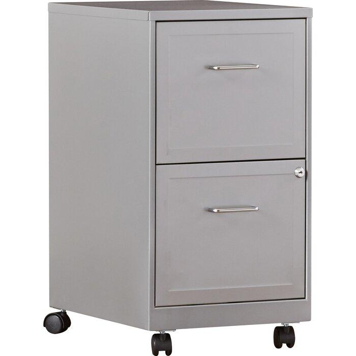 Nathen 2 Drawer Mobile Vertical Filing Cabinet