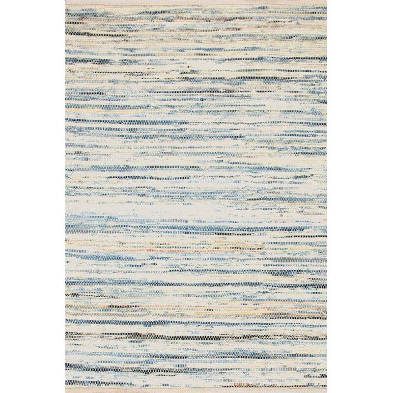 Dash And Albert Rugs Denim Rag Striped Hand Woven Flatweave Cotton White Blue Area Rug Reviews Wayfair