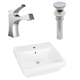 Find the perfect Ceramic Rectangular Drop-In  Bathroom Sink with Faucet ByAmerican Imaginations