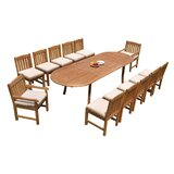 Miley 13 Piece Teak Dining Set