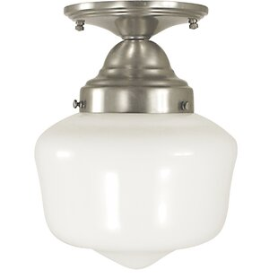 Landgraf 1-Light Semi Flush Mount by Charlton Home