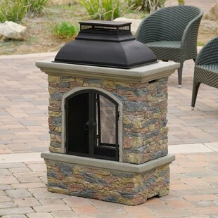 Home Loft Concepts Fresno Cement Wood Burning Outdoor Fireplace