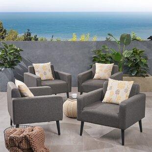 Rosalinda Patio Chair with Cushions (Set of 4)