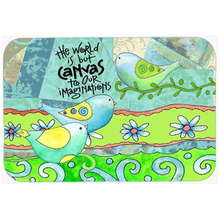 The World Is But a Canvas to Our Imagination Glass Cutting Board By Caroline's Treasures