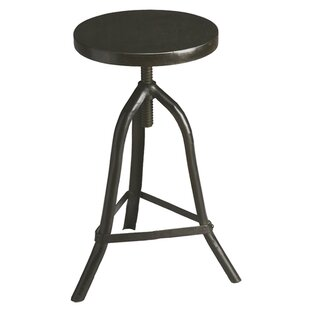 Sage Metalworks Adjustable Height Swivel Bar Stool by 17 Stories